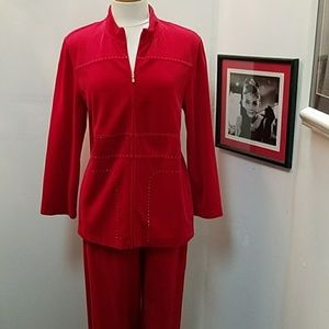 St. John Red Track Suit